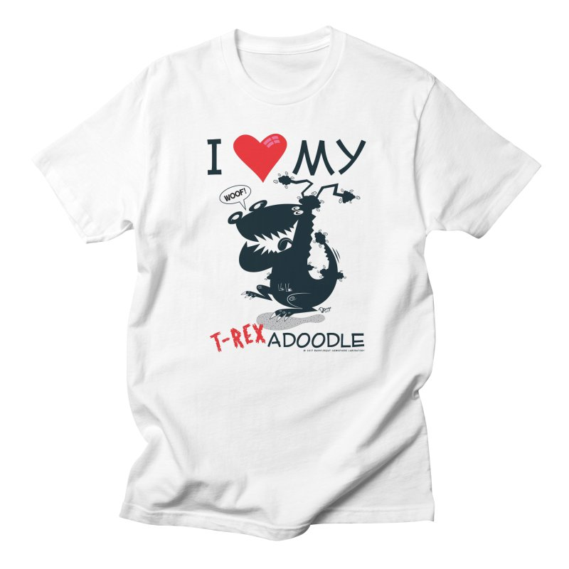 T-Rexadoodle Silhouette Women's Regular Unisex T-Shirt by righthemispherelaboratory's Shop