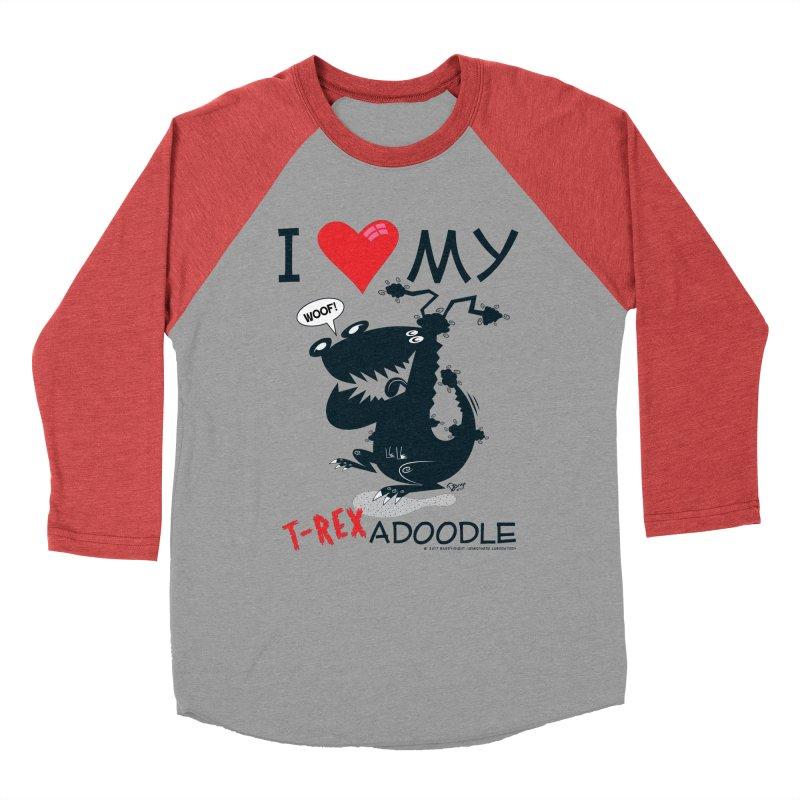 T-Rexadoodle Silhouette Women's Baseball Triblend Longsleeve T-Shirt by righthemispherelaboratory's Shop
