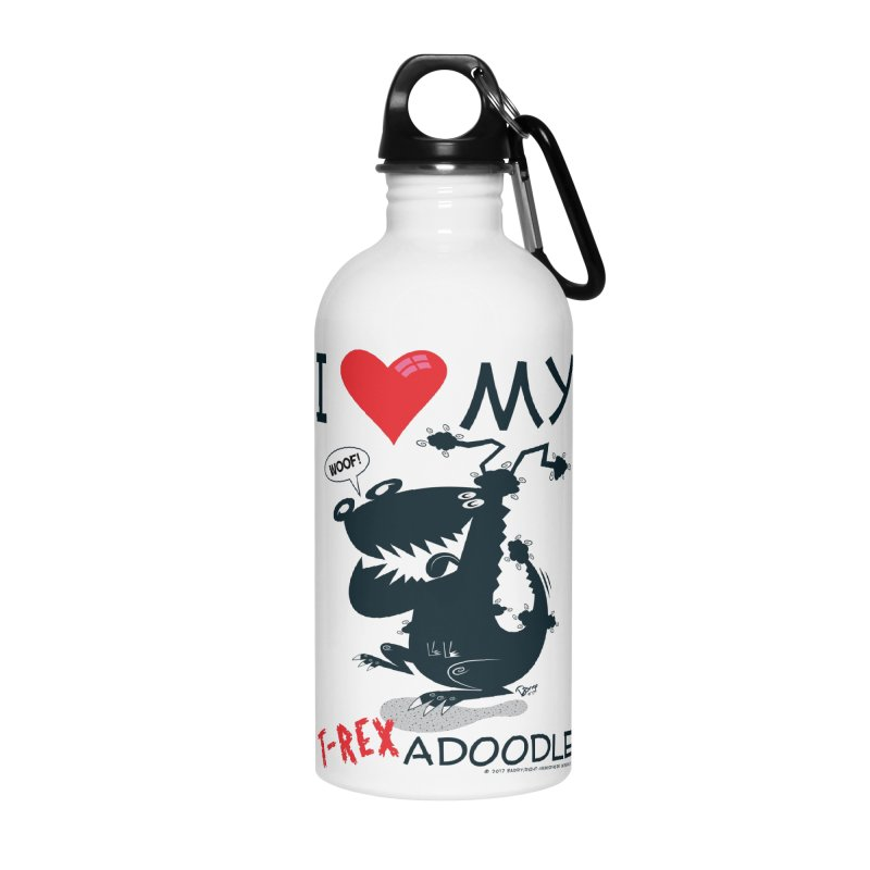 T-Rexadoodle Silhouette Accessories Water Bottle by righthemispherelaboratory's Shop