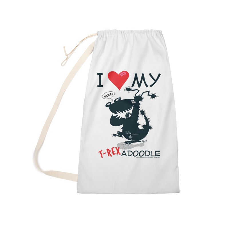 T-Rexadoodle Silhouette Accessories Laundry Bag Bag by righthemispherelaboratory's Shop