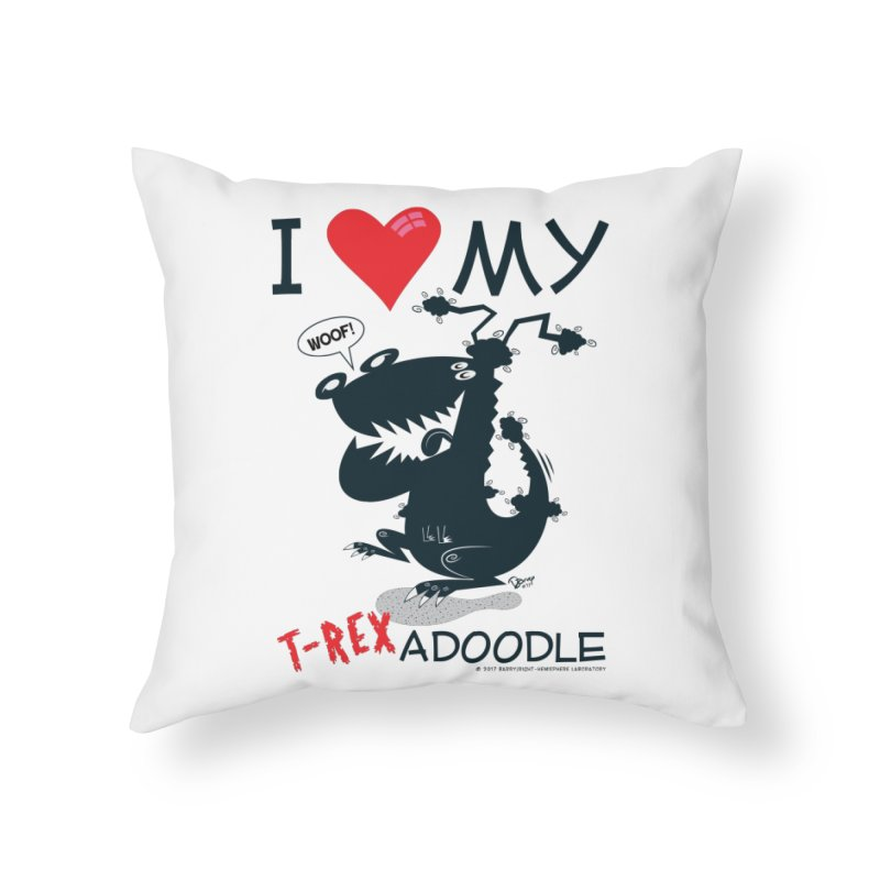T-Rexadoodle Silhouette Home Throw Pillow by righthemispherelaboratory's Shop