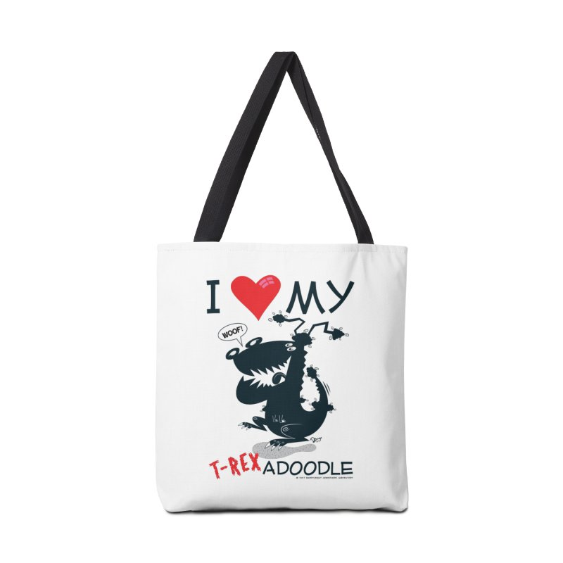 T-Rexadoodle Silhouette Accessories Tote Bag Bag by righthemispherelaboratory's Shop