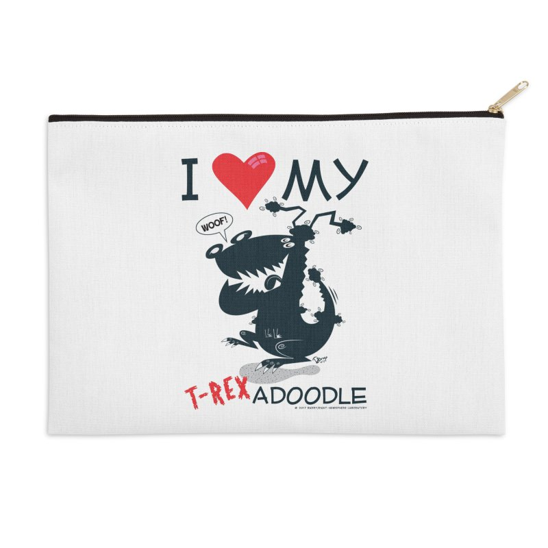 T-Rexadoodle Silhouette Accessories Zip Pouch by righthemispherelaboratory's Shop
