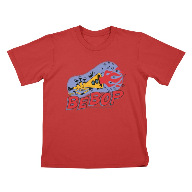 Bebop Trumpet Kids T-Shirt by righthemispherelaboratory's Shop