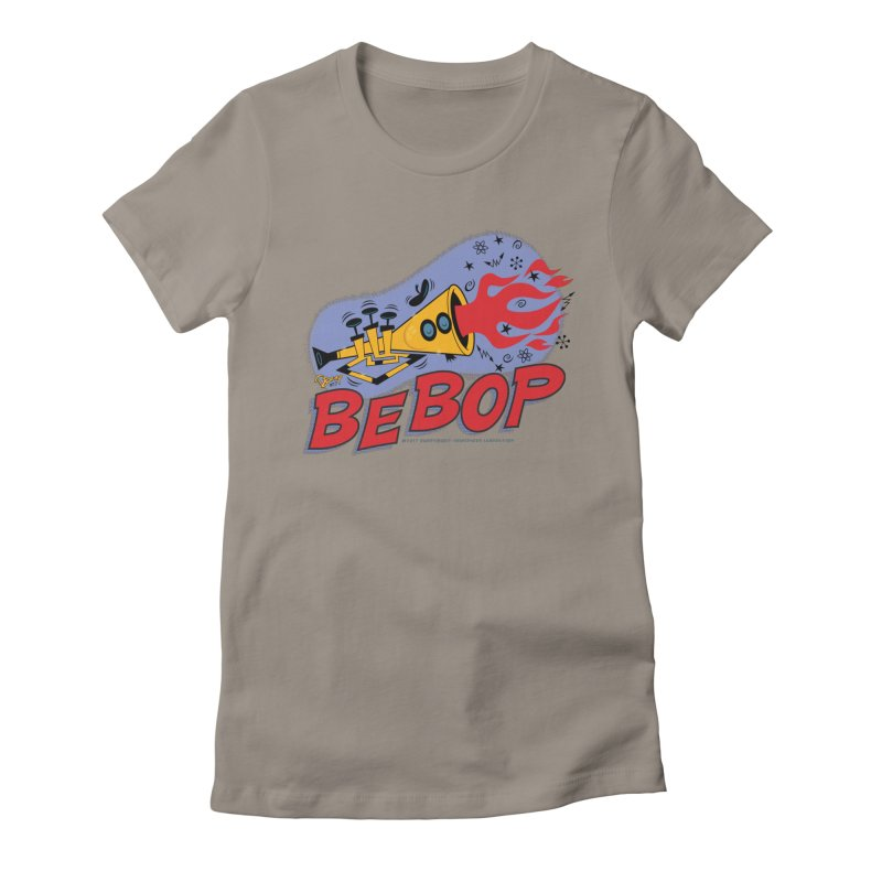 Bebop Trumpet Women's Fitted T-Shirt by righthemispherelaboratory's Shop
