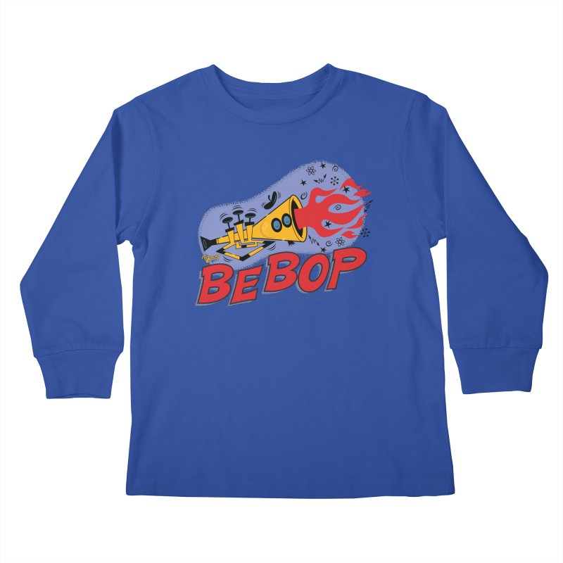 Bebop Trumpet Kids Longsleeve T-Shirt by righthemispherelaboratory's Shop