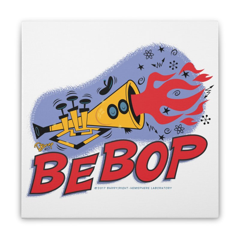 Bebop Trumpet Home Stretched Canvas by righthemispherelaboratory's Shop