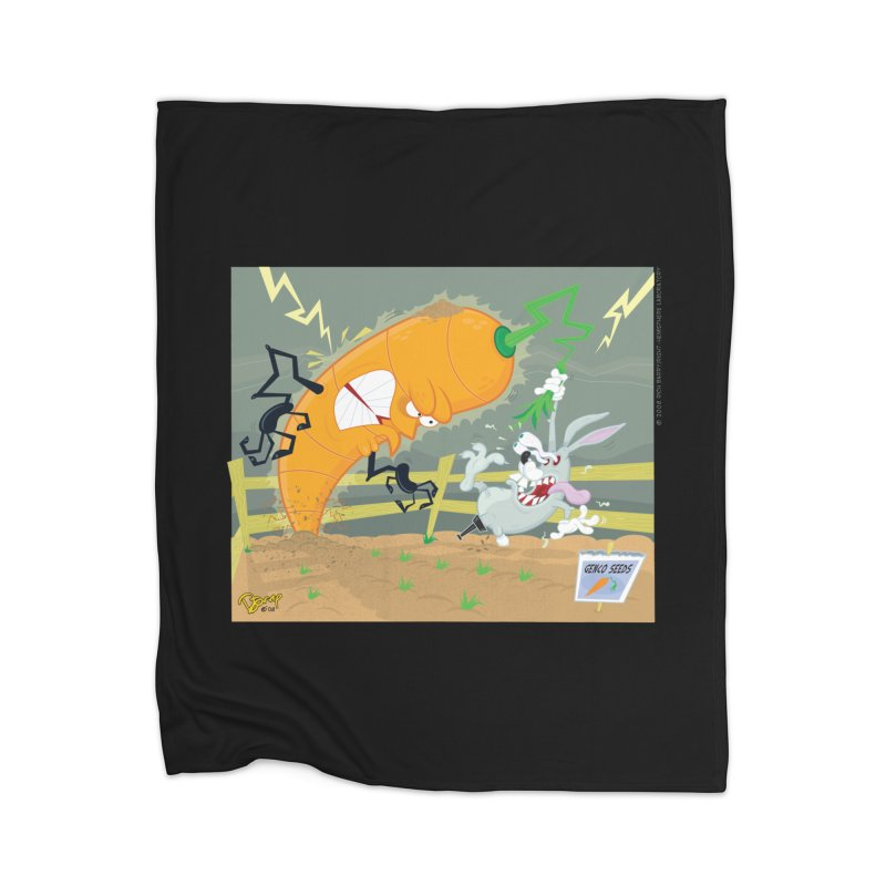 Bad Luck Bunny Home Blanket by righthemispherelaboratory's Shop