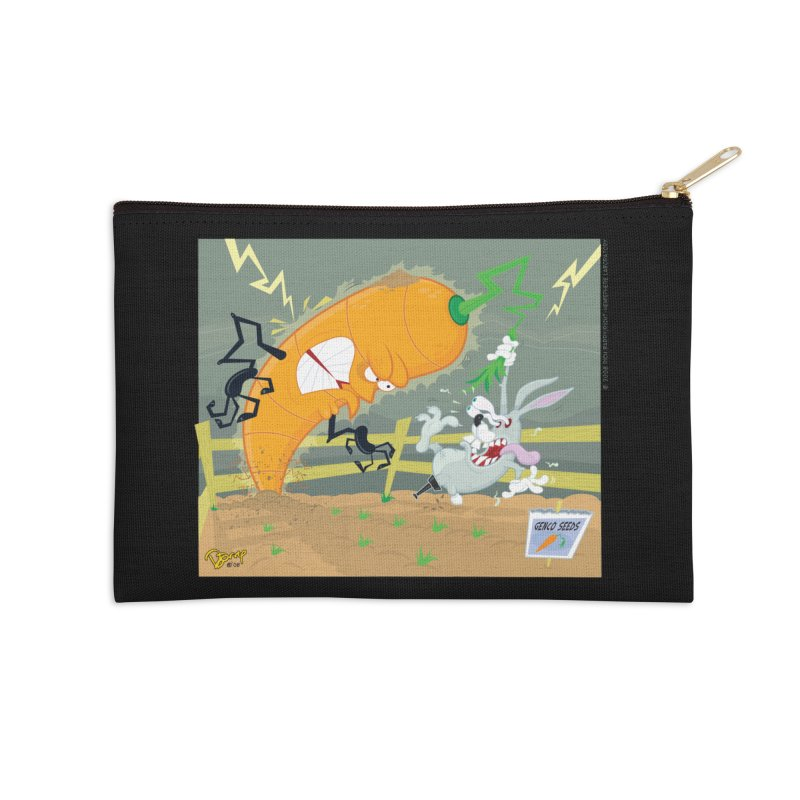 Bad Luck Bunny Accessories Zip Pouch by righthemispherelaboratory's Shop
