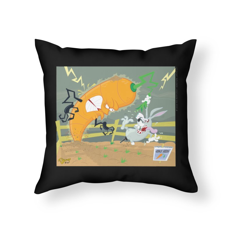 Bad Luck Bunny Home Throw Pillow by righthemispherelaboratory's Shop