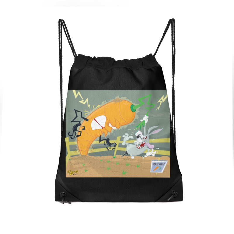 Bad Luck Bunny Accessories Drawstring Bag Bag by righthemispherelaboratory's Shop