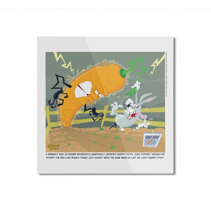 Bad Luck Bunny Home Mounted Aluminum Print by righthemispherelaboratory's Shop