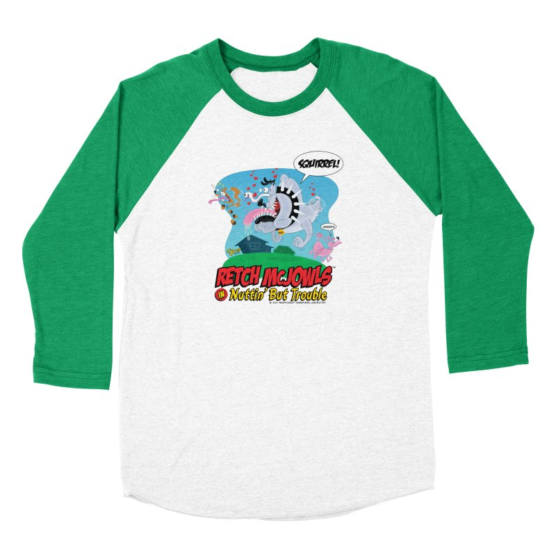Retch McJowls Men's Baseball Triblend Longsleeve T-Shirt by righthemispherelaboratory's Shop