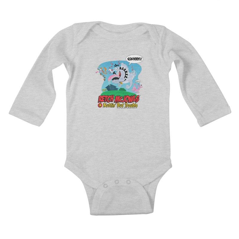 Retch McJowls Kids Baby Longsleeve Bodysuit by righthemispherelaboratory's Shop