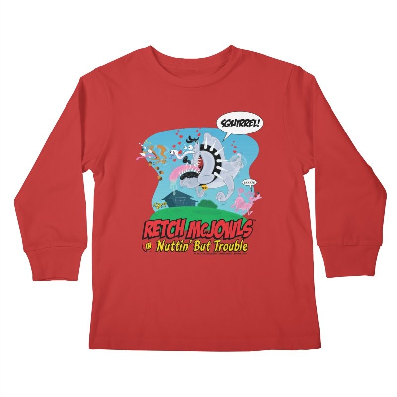 Retch McJowls Kids Longsleeve T-Shirt by righthemispherelaboratory's Shop