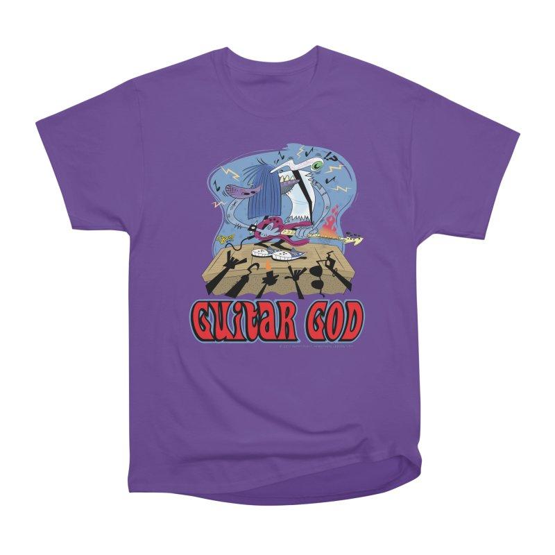 Guitar God Men's Heavyweight T-Shirt by righthemispherelaboratory's Shop