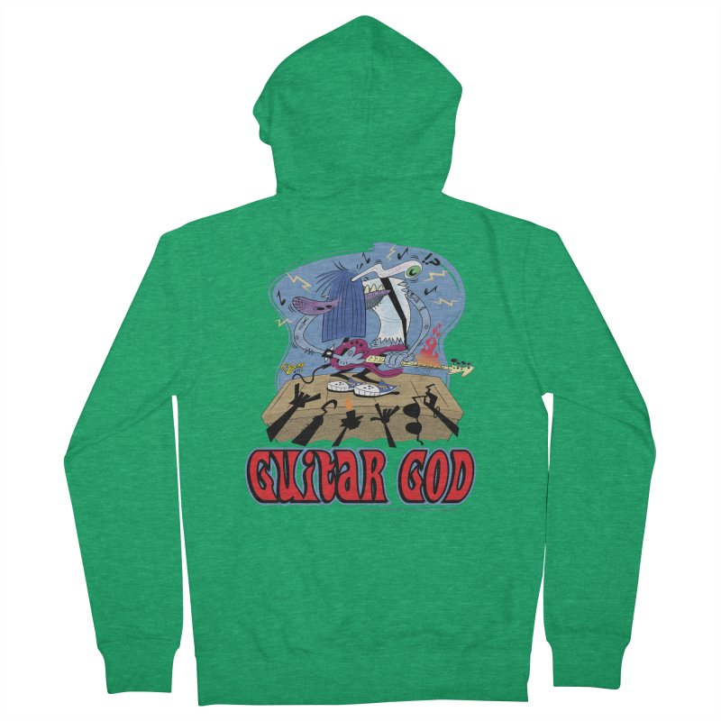 Guitar God Men's Zip-Up Hoody by righthemispherelaboratory's Shop