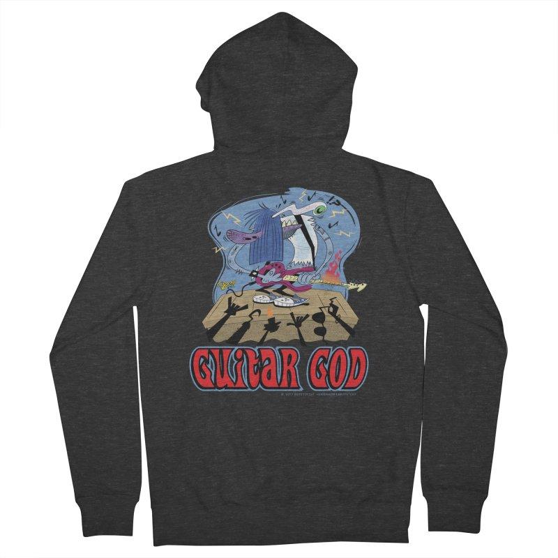 Guitar God Men's Zip-Up Hoody by righthemispherelaboratory's Shop