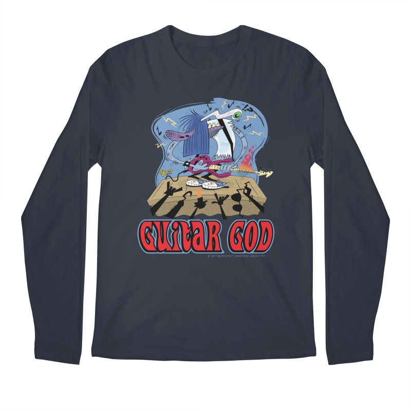 Guitar God Men's Regular Longsleeve T-Shirt by righthemispherelaboratory's Shop