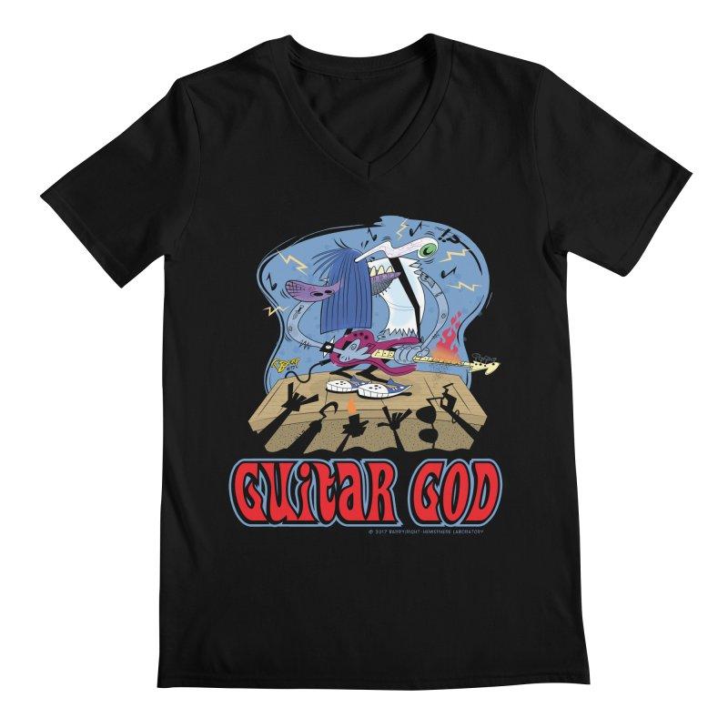 Guitar God Men's V-Neck by righthemispherelaboratory's Shop