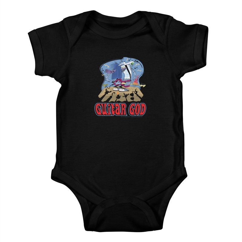 Guitar God Kids Baby Bodysuit by righthemispherelaboratory's Shop