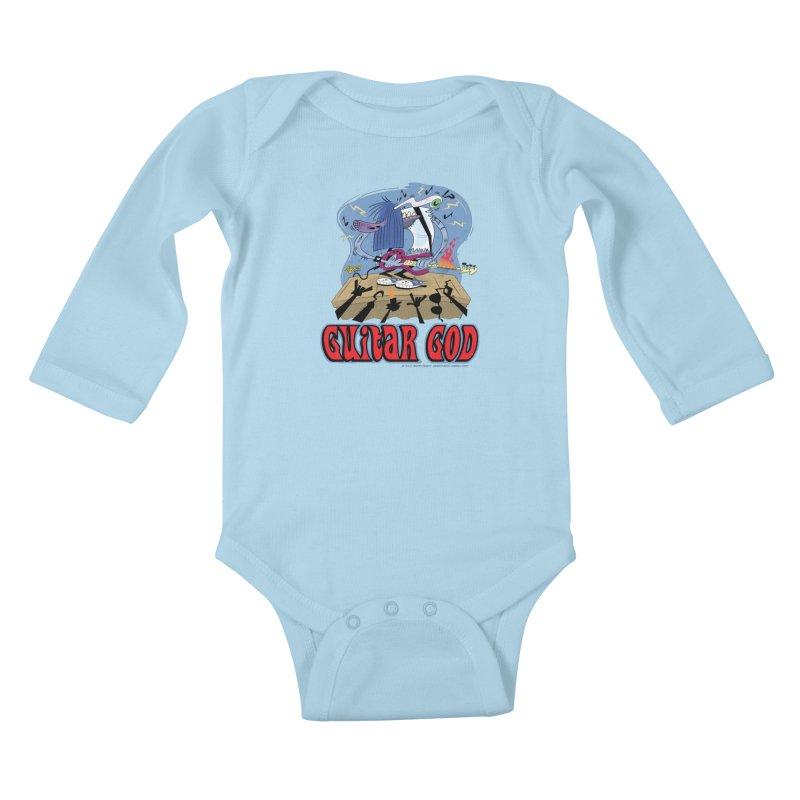 Guitar God Kids Baby Longsleeve Bodysuit by righthemispherelaboratory's Shop