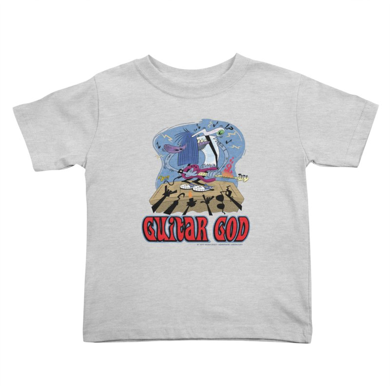 Guitar God Kids Toddler T-Shirt by righthemispherelaboratory's Shop
