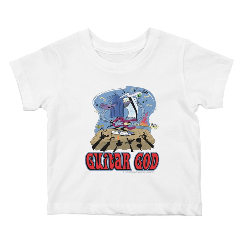 Guitar God Kids Baby T-Shirt by righthemispherelaboratory's Shop