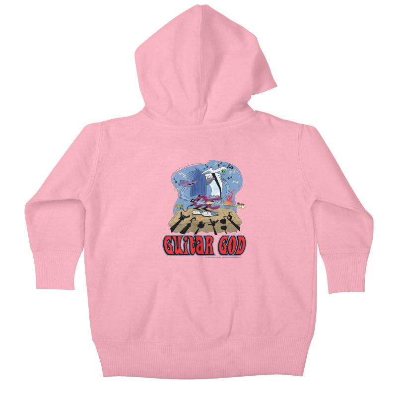 Guitar God Kids Baby Zip-Up Hoody by righthemispherelaboratory's Shop