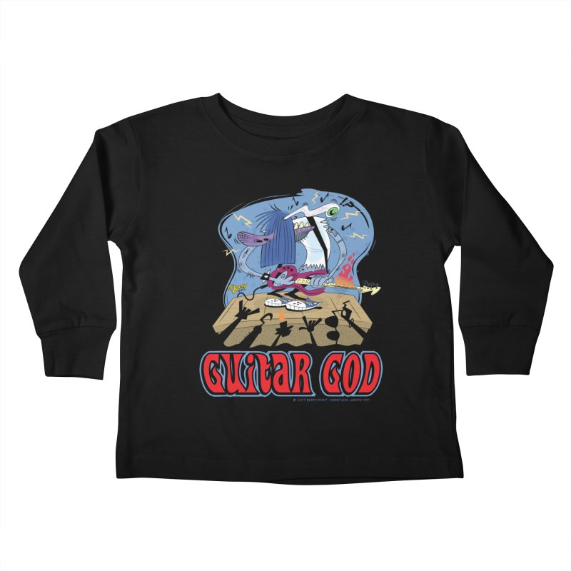 Guitar God Kids Toddler Longsleeve T-Shirt by righthemispherelaboratory's Shop