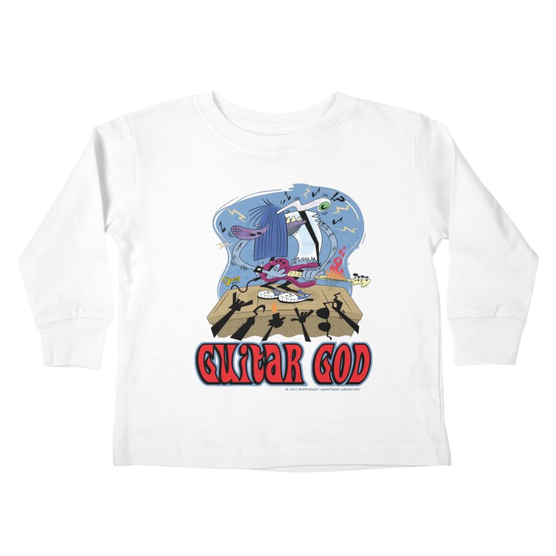Guitar God Kids Toddler Longsleeve T-Shirt by righthemispherelaboratory's Shop