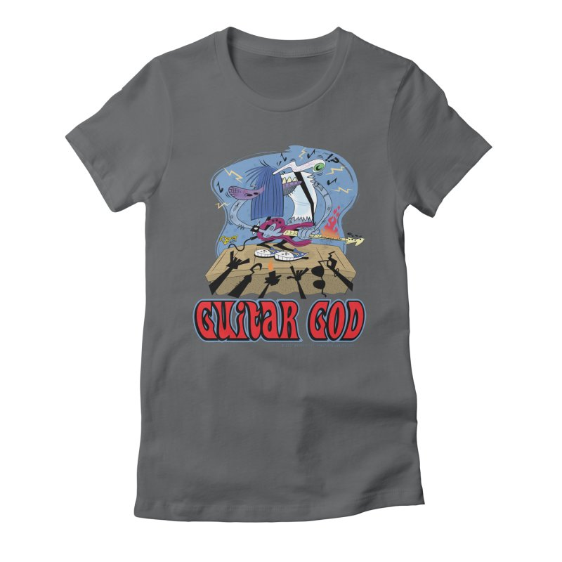 Guitar God Women's Fitted T-Shirt by righthemispherelaboratory's Shop