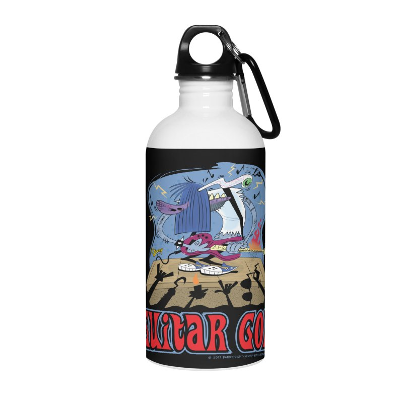 Guitar God Accessories Water Bottle by righthemispherelaboratory's Shop