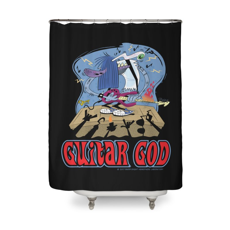 Guitar God Home Shower Curtain by righthemispherelaboratory's Shop