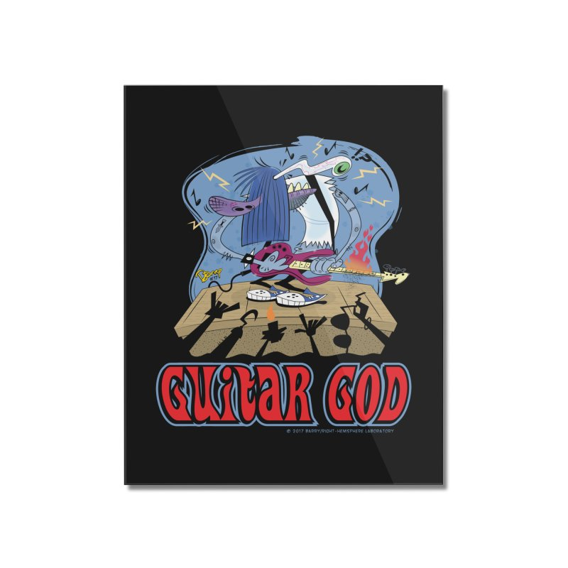 Guitar God Home Mounted Acrylic Print by righthemispherelaboratory's Shop