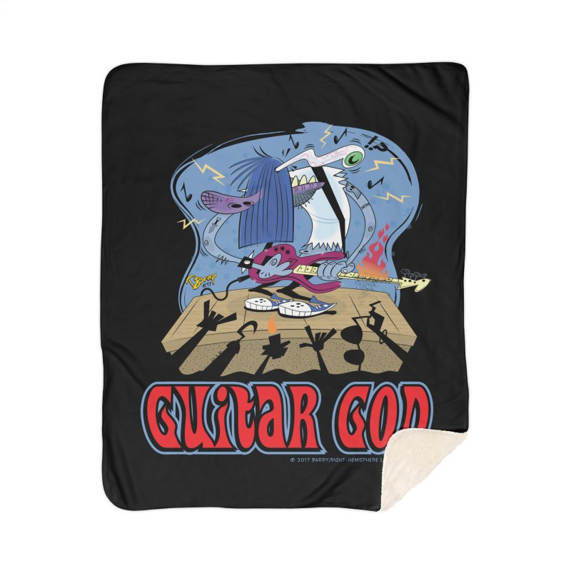 Guitar God Home Blanket by righthemispherelaboratory's Shop