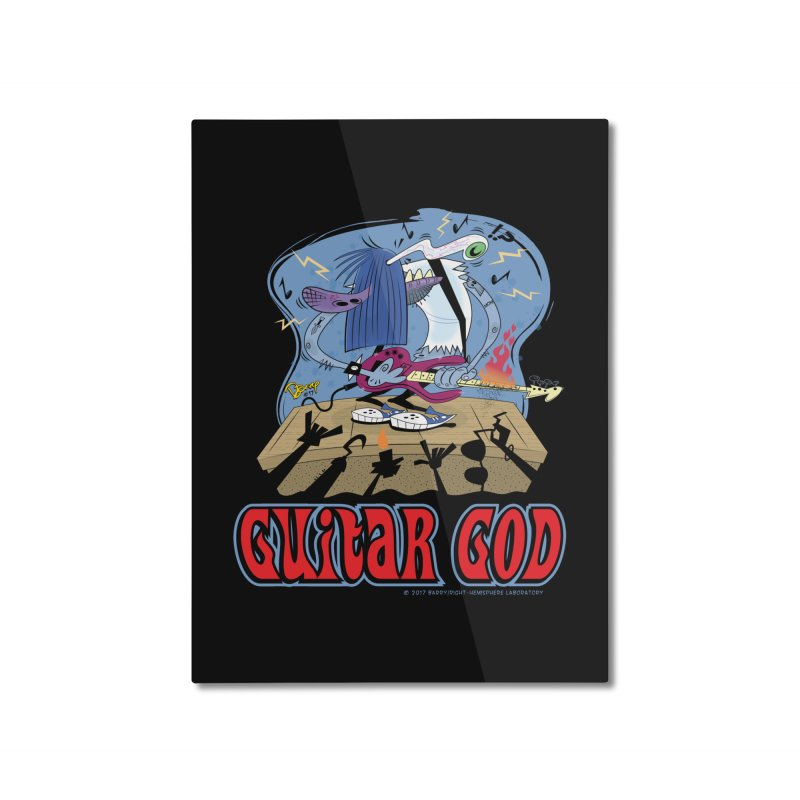 Guitar God Home Mounted Aluminum Print by righthemispherelaboratory's Shop