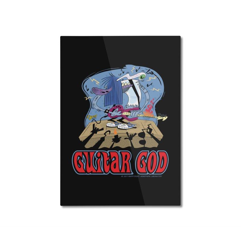 Guitar God Home Mounted Aluminum Print by righthemispherelaboratory's Shop