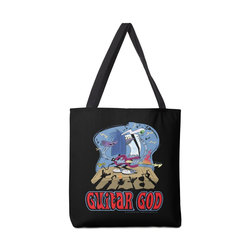 Guitar God Accessories Tote Bag Bag by righthemispherelaboratory's Shop