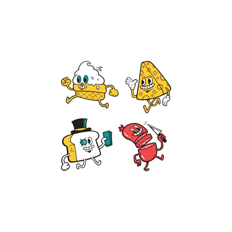Food Guys Stickers Accessories Sticker by Rikcat