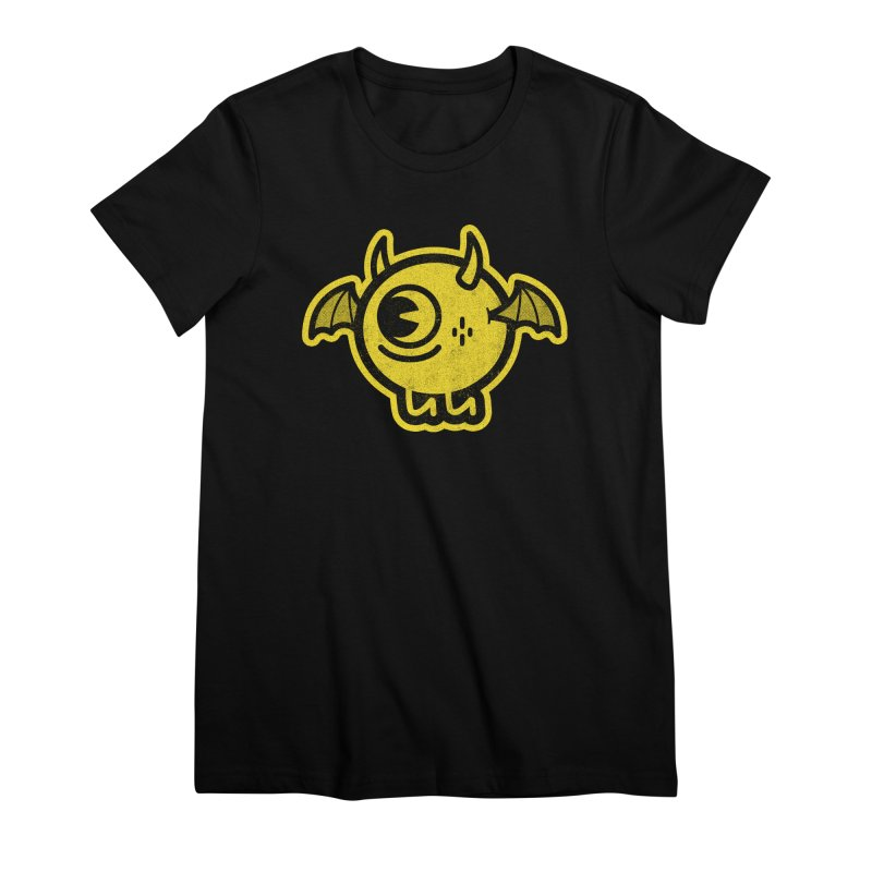 Lil' Demon - Yellow Women's Premium T-Shirt by Rikcat