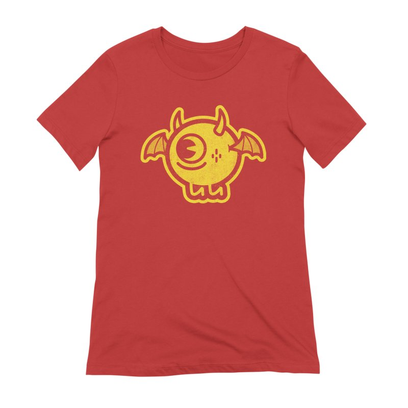 Lil' Demon - Yellow Women's Extra Soft T-Shirt by Rikcat