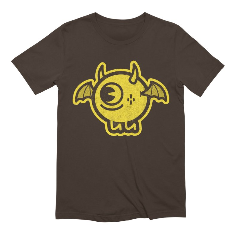 Lil' Demon - Yellow Men's Extra Soft T-Shirt by Rikcat