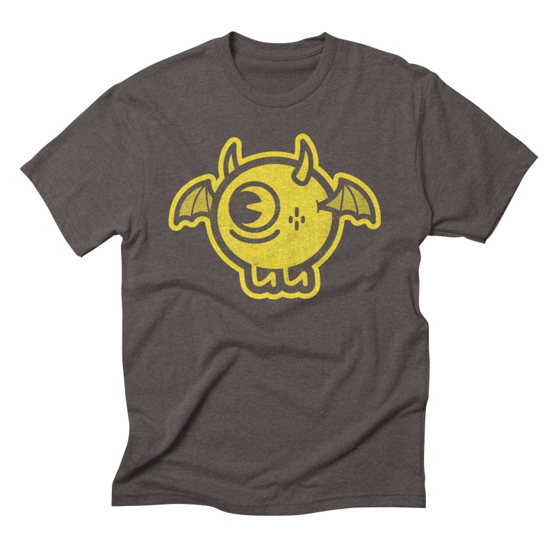 Lil' Demon - Yellow Men's Triblend T-Shirt by Rikcat