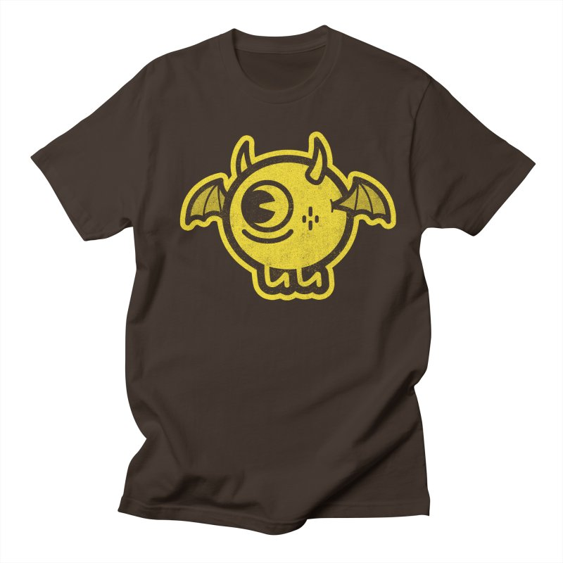 Lil' Demon - Yellow Men's Regular T-Shirt by Rikcat
