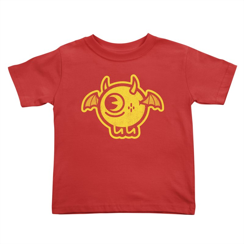 Lil' Demon - Yellow Kids Toddler T-Shirt by Rikcat