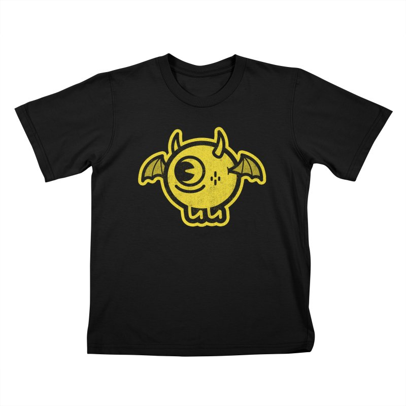 Lil' Demon - Yellow Kids T-Shirt by Rikcat