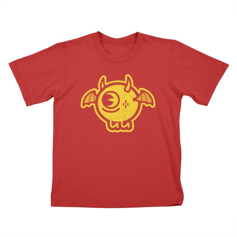Lil' Demon - Yellow Kids T-Shirt by Rikcat
