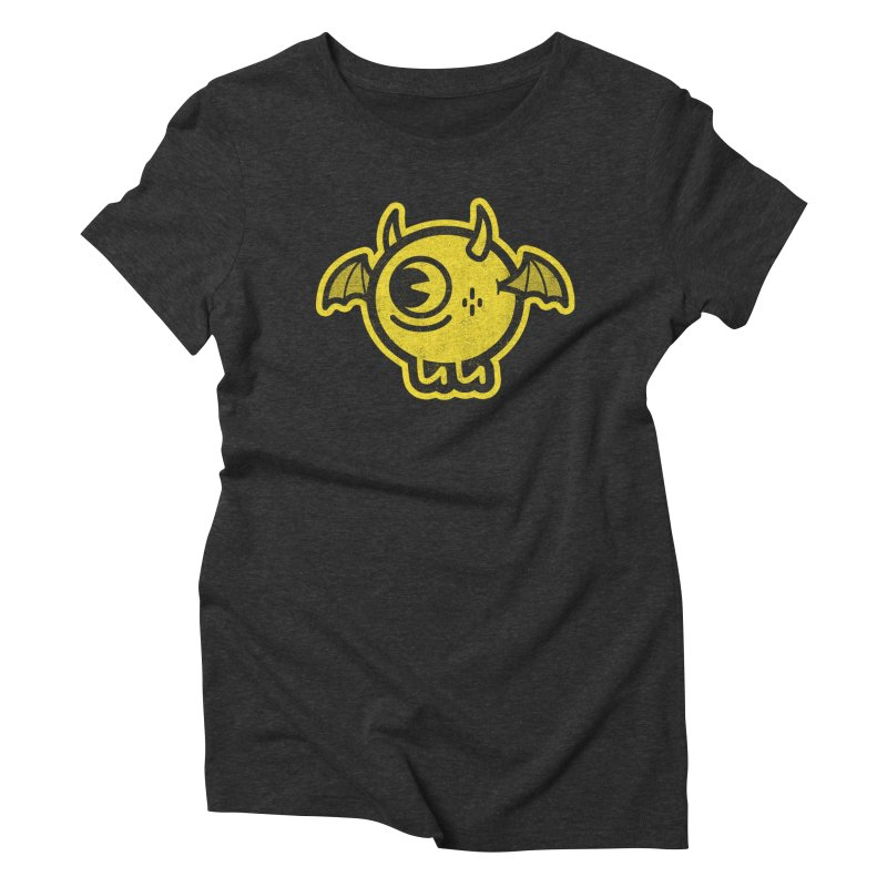 Lil' Demon - Yellow Women's Triblend T-Shirt by Rikcat