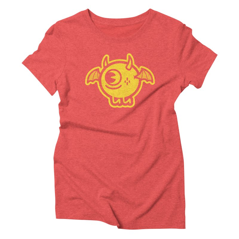 Lil' Demon - Yellow Women's Triblend T-Shirt by Rikcat